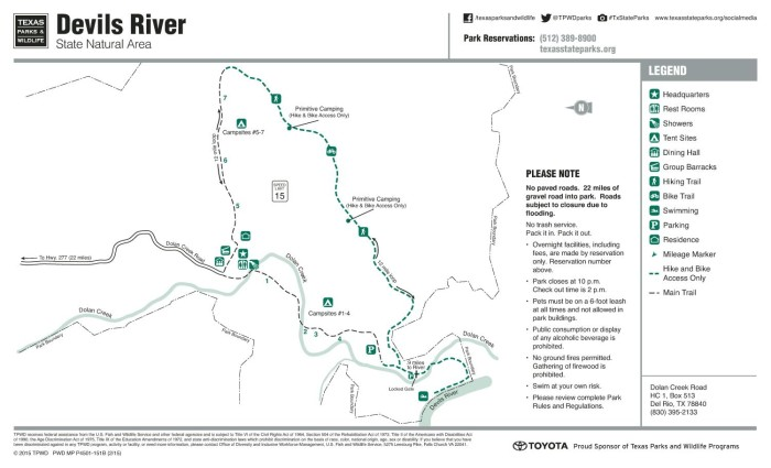 Devils River State Natural Area Map - The Portal to Texas History on