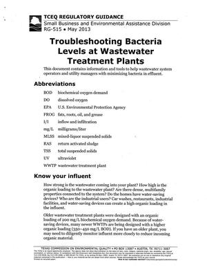Primary view of object titled 'Troubleshooting Bacteria Levels at Wastewater Treatment Plants'.