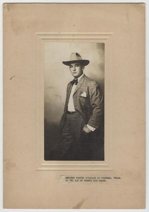 Primary view of object titled 'Senator Walter Woodward of Coleman, Texas, at the Age of Twenty One Years.'.