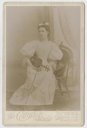 Primary view of object titled '[Portrait of a Young Woman with a Violin]'.