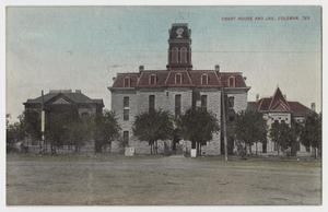 Primary view of object titled 'Court House and Jail, Coleman, Texas'.