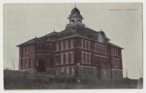 Primary view of object titled 'High School, Coleman, Texas'.