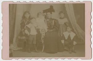 Primary view of object titled '[Portrait of a Woman and Her Five Children]'.