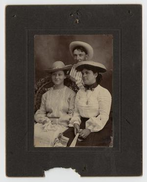 Primary view of object titled '[Portrait of Harry McClellan, Lotta Dibrell, and Cameron Carrington]'.