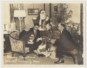 "Primary view of object titled '""Merry Christmas"" Walter, Mimi and Mac""'."