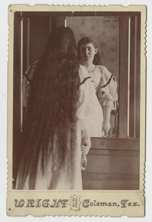 Primary view of object titled '[Woman Looking in a Mirror]'.