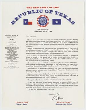 Primary view of object titled '[Letter from Robert D. Hardy to Volunteers of the New Army Republic of Texas]'.