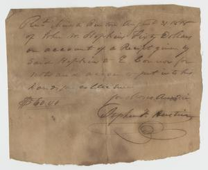 Primary view of [Receipt of Payment from John Hopkins to E. Connor, August 31, 1818]