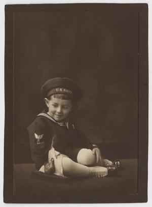 Primary view of object titled '[Walter M. Woodward in a Sailor Suit]'.