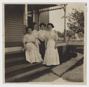 Primary view of object titled '[Four Women on a Front Porch]'.