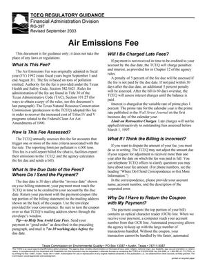 Primary view of object titled 'Air Emissions Fee'.