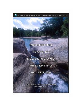 Primary view of object titled 'Protecting Texas by Reducing and Preventing Pollution'.