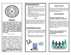 TDCJ Ombudsman Office - The Portal to Texas History