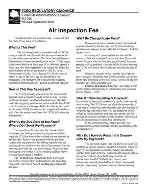 Primary view of object titled 'Air Inspection Fee'.