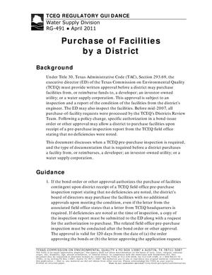 Primary view of object titled 'Purchase of Facilities by a District'.