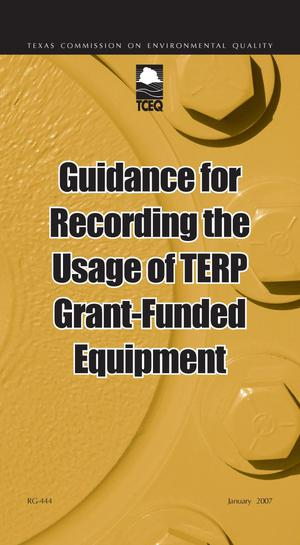 Primary view of object titled 'Guidance for Reporting the Usage of TERP Grant-Funded Equipment'.