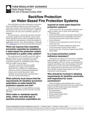 Primary view of object titled 'Backflow Protection on Water-Based Fire Protection Systems'.
