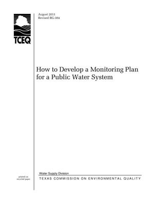 Primary view of object titled 'How to Develop a Monitoring Plan for a Public Water System'.