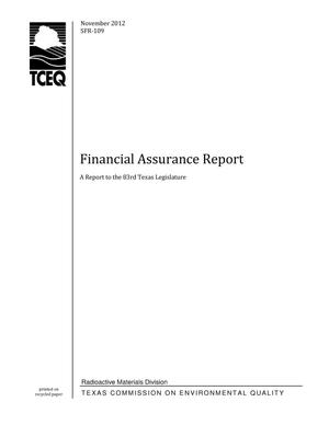 Primary view of object titled 'Texas Commission on Environmental Quality Financial Assurance Report'.
