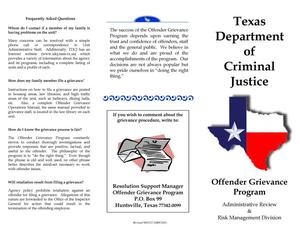 Primary view of object titled 'Offender Grievance Program'.
