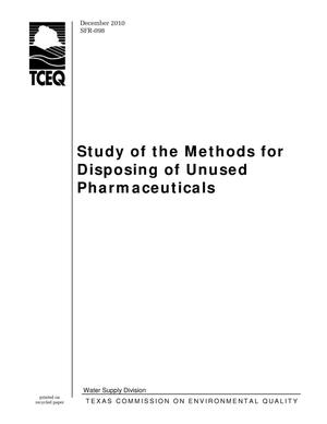 Primary view of object titled 'Study of the Methods for Disposing of Unused Pharmaceuticals'.