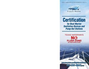 Primary view of object titled 'Certification for Boat Marine Sanitation Devices and Pump-Out Stations'.