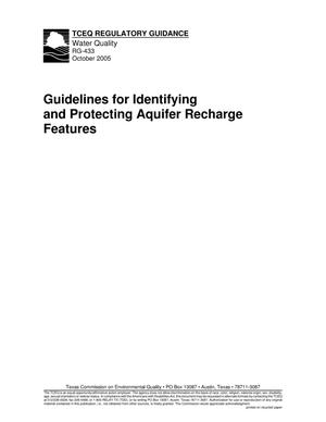 Primary view of object titled 'Guidelines for Identifying and Protecting Aquifer Recharge Features'.