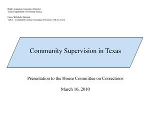 Primary view of object titled 'Community Supervision in Texas'.