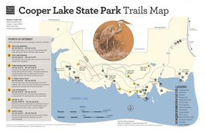 Primary view of object titled 'Cooper Lake State Park Trails Map'.