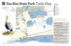 Primary view of object titled 'Sea Rim State Park:Trails Map'.