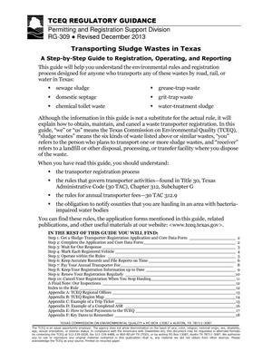 Primary view of object titled 'Transporting Sludge Wastes in Texas: A Step-by-Step Guide to Registration, Operating, and Reporting'.