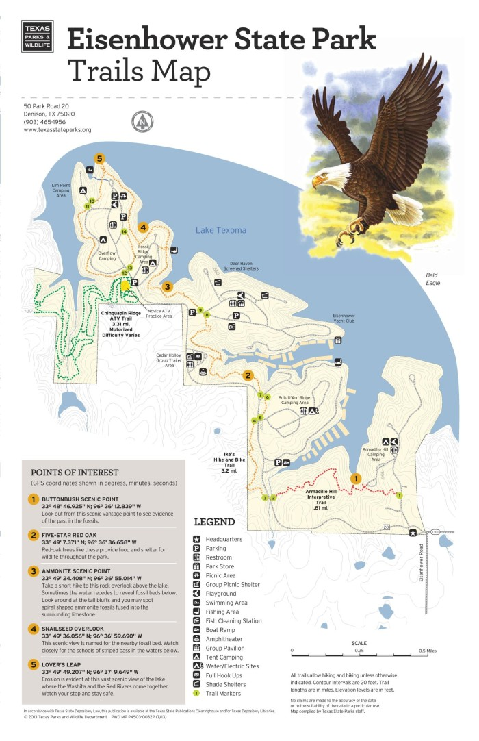 Eisenhower State Park:Trails Map - The Portal to Texas History on