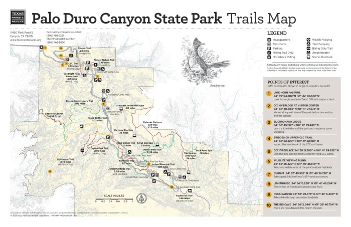 Palo Duro Canyon Texas Map Palo Duro Canyon State Park Trails Map   The Portal to Texas History