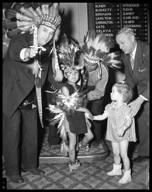 Primary view of object titled 'Governor W. Lee O'Daniel with Indians in The Texas Legislature'.