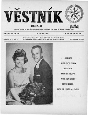 Primary view of object titled 'Věstník (West, Tex.), Vol. 53, No. 37, Ed. 1 Wednesday, September 15, 1965'.