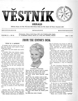 Primary view of object titled 'Věstník (West, Tex.), Vol. 53, No. 18, Ed. 1 Wednesday, May 5, 1965'.