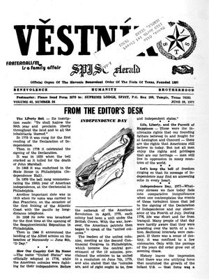Primary view of object titled 'Věstník (West, Tex.), Vol. 65, No. 26, Ed. 1 Wednesday, June 29, 1977'.