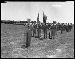 Primary view of object titled 'Camp Swift -- Induction Ceremony of the Old 59th'.