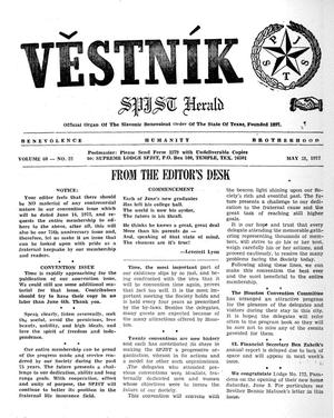 Primary view of object titled 'Věstník (West, Tex.), Vol. 60, No. 22, Ed. 1 Wednesday, May 31, 1972'.