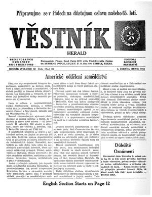 Primary view of object titled 'Věstník (West, Tex.), Vol. 50, No. 23, Ed. 1 Wednesday, June 6, 1962'.
