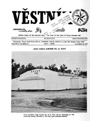 Primary view of object titled 'Věstník (West, Tex.), Vol. 67, No. 43, Ed. 1 Wednesday, October 24, 1979'.