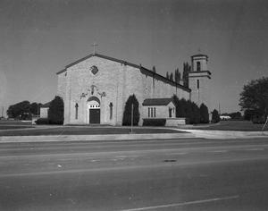 Primary view of object titled '[Exterior of St. Anthony's Catholic Church]'.
