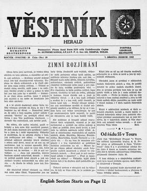 Primary view of object titled 'Věstník (West, Tex.), Vol. 50, No. 10, Ed. 1 Wednesday, March 7, 1962'.