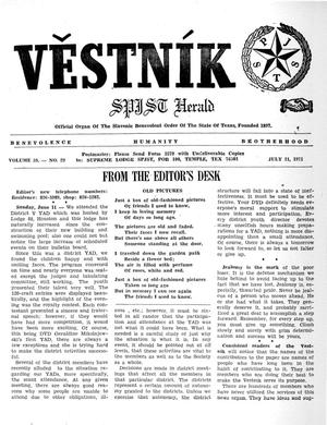 Primary view of object titled 'Věstník (West, Tex.), Vol. 59, No. 29, Ed. 1 Wednesday, July 21, 1971'.