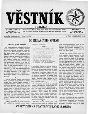 Primary view of object titled 'Věstník (West, Tex.), Vol. 52, No. 36, Ed. 1 Wednesday, September 9, 1964'.
