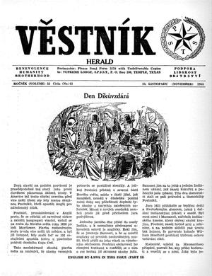 Primary view of object titled 'Věstník (West, Tex.), Vol. 52, No. 47, Ed. 1 Wednesday, November 25, 1964'.