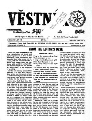 Primary view of object titled 'Věstník (West, Tex.), Vol. 65, No. 49, Ed. 1 Wednesday, December 7, 1977'.
