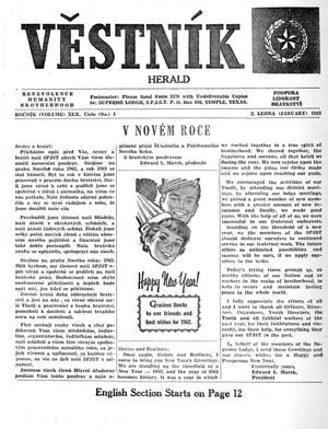 Primary view of object titled 'Věstník (West, Tex.), Vol. 50, No. 1, Ed. 1 Wednesday, January 3, 1962'.