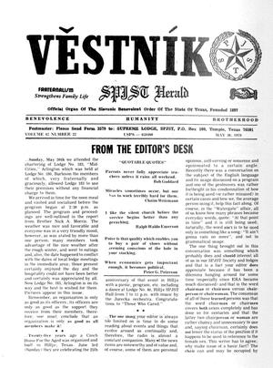 Primary view of object titled 'Věstník (West, Tex.), Vol. 67, No. 22, Ed. 1 Wednesday, May 30, 1979'.