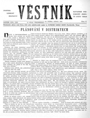 Primary view of object titled 'Věstník (West, Tex.), Vol. 41, No. 17, Ed. 1 Wednesday, April 29, 1953'.